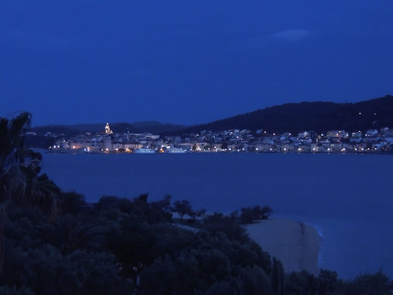 Korcula at night